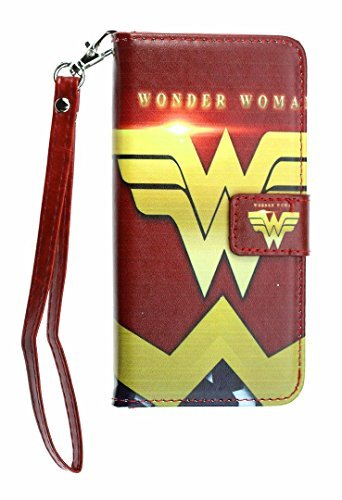 """iPhone 6S PLUS Wallet Case, DURARMOR iPhone 6 PLUS Red Wonder Woman Premium Leather Wallet with ID Card Cash Slots Flip Stand Magnetic Closure Carrying Case for iphone 6 Plus iphone 6s Plus 5.5"""""""