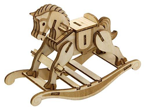 Rocking Horse - 3D Wooden Puzzle DIY Kit by JIGZLE