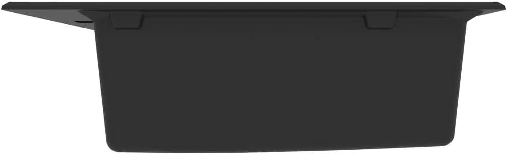 Beige UnfadeMemory Fregadero de Cocina de Granito con Rebosadero y Cesto Colador,Montaje Superior,610x500x193mm