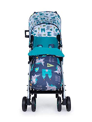 Cosatto Supa 3 Pushchair – Lightweight Stroller from Birth to 25kg - Compact Fold, Shopping Basket, Footmuff (Dragon Kingdom) Cosatto Suitable from birth – supa 3 is compact from-birth stroller. suitable up to 25kg, the sturdy but lightweight 9kg chassis lets your toddler use it for longer Easy to use – this lightweight stroller has a handy compact umbrella fold and carry handle so you can hop on and off transport with ease, whilst also being great for fitting into your car All in the detail – discover supa 3's detailing. from exquisite fabrics and finishes to a viewing window in the hood, fleece lined footmuff and reversible summer liner, this is understated luxury 7