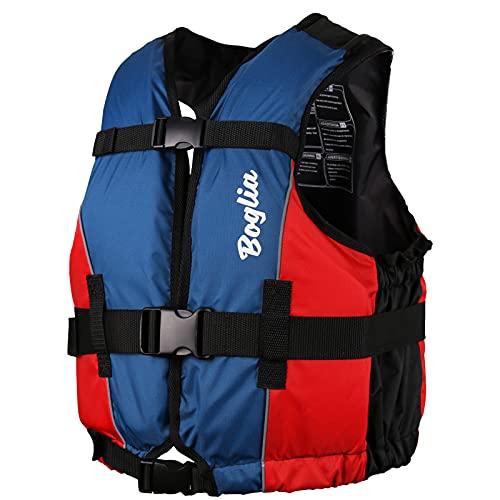 Boglia Chaleco de natación, Chaqueta de natación para Adulto, Traje de baño con flotación de PVC con Correa de Seguridad Ajustable M/L