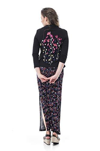 Mamatayoe Clovelly Blazer Casual, Negro, XL para Mujer