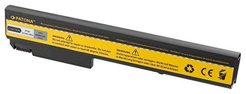 PATONA Batterie adapté pour Laptop/Notebook HP Compaq Elitebook 8530, 8530p, 8530w, 8540p, 8540w, 8730p, 8730w, 8740w, Probook 6440, 6440b, 6540, 6545, 6545b, 6550b, 6555b Li-ION, 4400mAh, Noir