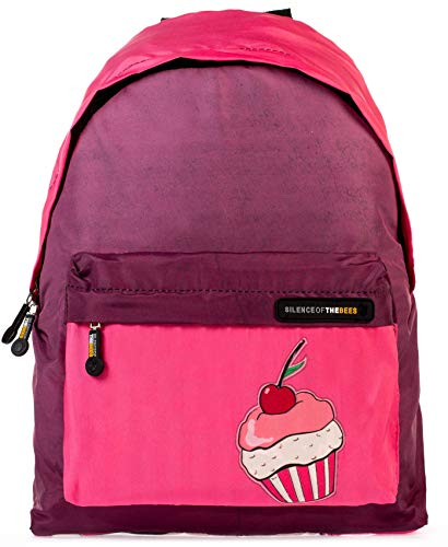 Unisex Fashion Casual Schule Gepolsterter Rucksack Canvas Rucksack Laptop Tablet Buch Daypack Bag Silence of The Bees, Vegan, 42 x 30 x 16 cm, 24 l