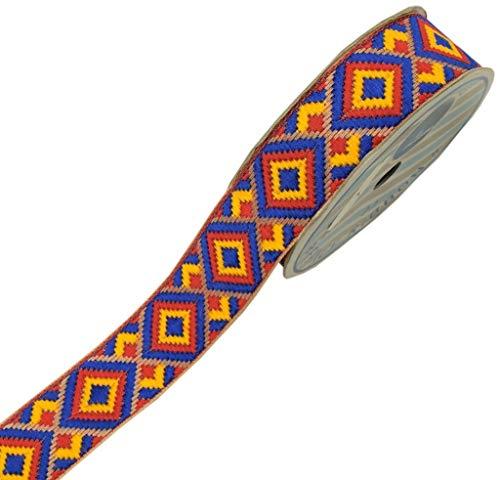 Sari-Bordüre, 30 mm, indisches Bastelband, zum Nähen, Blau