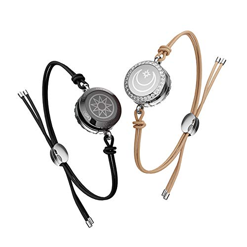 Smart Jewerly Couple Bracelets Touch To Send Out Your Love,Brown
