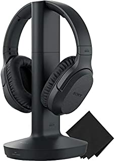 Sony Wireless RF Home Theater TV Headphones with Transmitter - 150-ft Wireless Range, Up to 20 Hours of Play Time (Black) ...