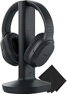 Sony Wireless RF Home Theater Auriculares 150 pies Alcance inalámbrico, hasta 20 Horas de Tiempo de Juego (Negro) y Zonoz ...