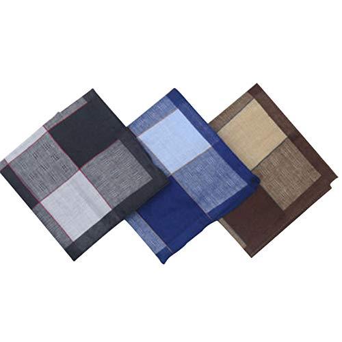 Chinashow 3er-Set Taschentücher aus 100{e4bdda8e8835d5a319cfb2cfdd0bd53f72afbf41d9bd8ab8d940d493875d95d6} Baumwolle für Herren Classic Gentleman Pocket Square Taschentuch #A08