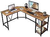 GreenForest L Shaped Corner Desk 65.7 inch with Storage Shelf Long Gaming Desk for Home...