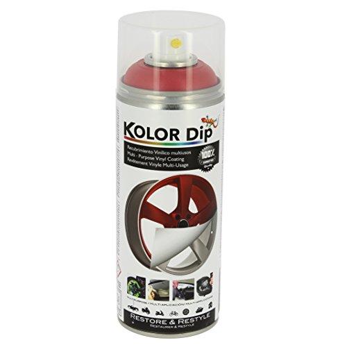 Kolor Dip Spain KD12002 Pintura en Spray con Vinilo Líquido Extraible, Rojo Metalizado, 400 ml (Paquete de 1)
