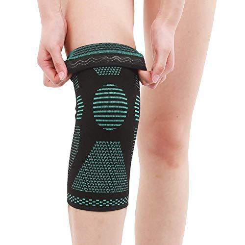 ZGQA-AOC Ayuda de la rodilla, rodillera Hombres Mujeres - mangas de la rodilla, la rodilla antimicrobiana compatible con la compresión de la rodilla Alivio del Dolor Rehabilitación de Lesiones Running