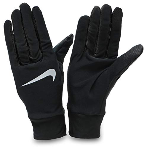 Nike Herren Mens Lightweight Tech Running Gloves 082 Handschuhe, Black/Silver, L