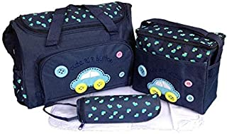 4PCS Waterproof Baby Diaper Nappy Bag Mummy Tote Handbag