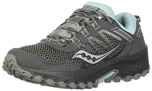 Saucony Women's VERSAFOAM Excursion TR13 Walking Shoe, Charcoal/Blue, 7.5 M US
