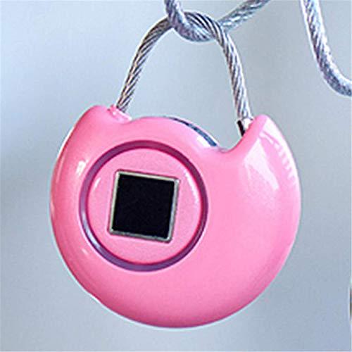 Lucchetto per impronte digitali intelligente lucchetto di sicurezza USB Smart Travel Lock per esterni, palestra, scuola, armadietto, garage (dimensioni: formato libero; colore: rosa)