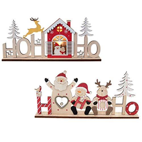 Letreros Navidad Madera Marca OSALADI
