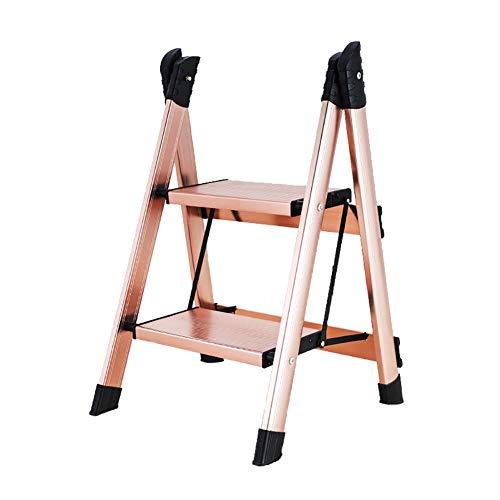 LIUCHUNYANSH Escalera Plegable Aluminio Pasos de Escalera Plegable del hogar Escalera Plegable,...