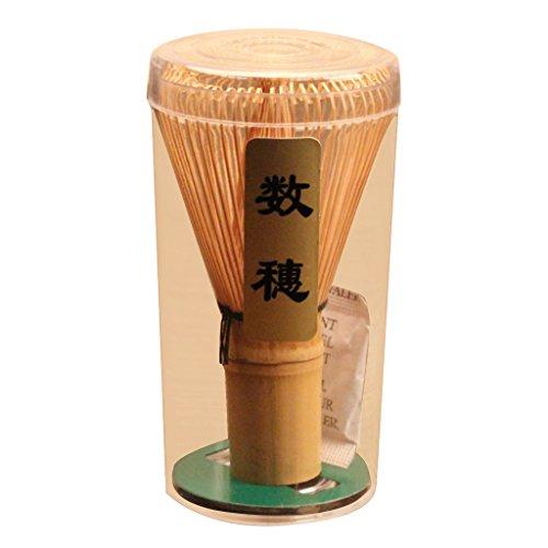 LOVIVER Matcha Bamboo Chasen Schneebesen/Teascoop/Keramikschale Japanisches Teezeremonie Werkzeug - Bambus, 60-70