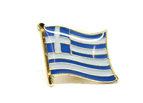 Shopiyal Brosche Nationalflagge griechische Emaille, hochwertige Metall-Emaille, Anstecknadel zum Sammeln von Schmuck, Hemd, Jacken, Mäntel, Krawatte, Hüte, Taschen, Rucksäcke