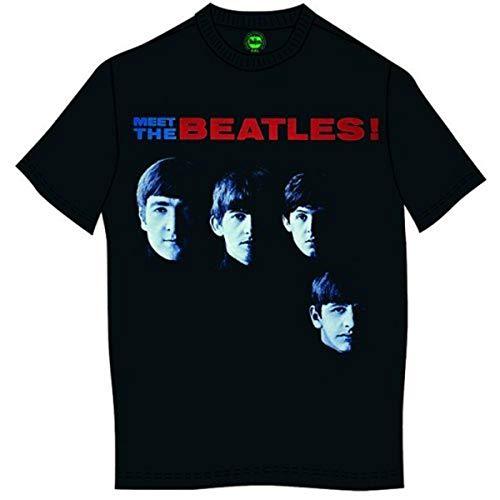 Rockoff Meet The Beatles T-Shirt, Nero, L Uomo