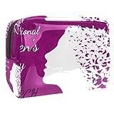 Bolsa de Maquillaje de Viaje portátil,8 de Marzo Día Internacional de la Mujer. ,Bolsa de cosméticos para Mujeres,Bolsa organizadora de Maquillaje con Cremallera de Belleza