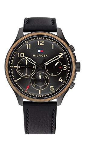 Tommy Hilfiger Herren Analog Quarz Uhr mit Leder Armband 1791854