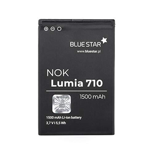Blue Star Premium - Batería de Li-Ion litio 1500 mAh, de Capacidad Carga Rapida 2.0, Compatible con el Nokia 710 Lumia/610 Lumia/603