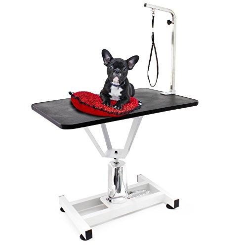 WilTec Mesa Veterinaria Peluquería Canina para Mascotas Aseo Grooming Higiene Altura Ajustable