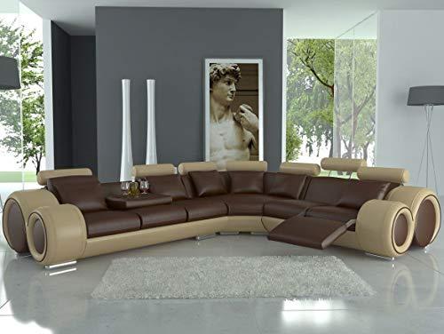 Berlin Ecksofa Wohnlandschaft mit Relaxfunktion Couch Sofa Polster Neu Freie Farbwahl