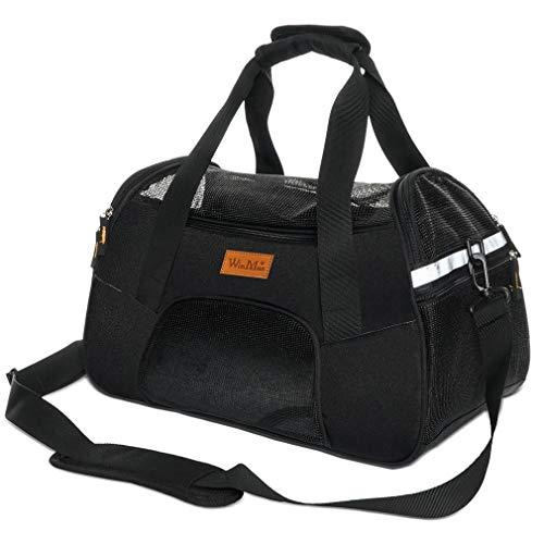 Winmax Transporttasche für Katzen und Hunde, atmungsaktiv, für kleine Haustiere, leicht, bequem, weich und faltbar, mit Matte für Reisen (L)