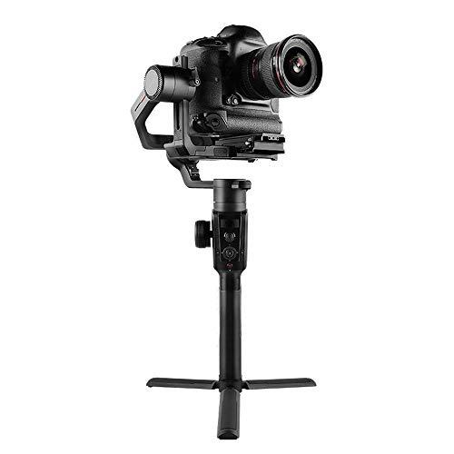Gimbal Stabilizzatore Handheld giunto cardanico Stabilizzatore Micro fotocamera reflex stabilizzatore giroscopico segue il fuoco 4.2kg Live Record Video ( Colore : Black , Size : 23x24x47cm )