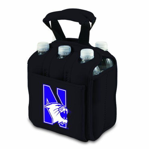 PICNIC TIME Six Pack Beverage Carrier Beer Accessories Black 7 x 45 x 9