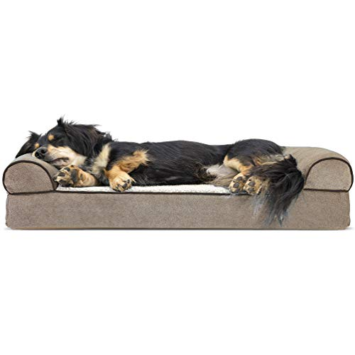 Furhaven Pet Dog Bed | Orthopedic Faux Fleece...