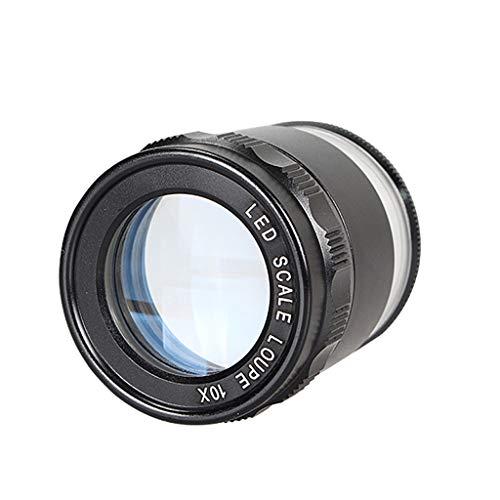 Hand-held cilinder met Afgestudeerd Magnifier, 10x High-definition optische lens, met LED-licht, for de identificatie van sieraden en porselein, Uitzicht Drug Beschrijving