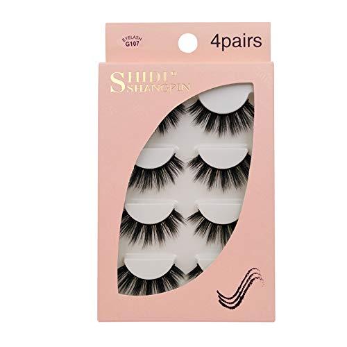 Falsche Wimpern mit Eyeliner, natural fake lashes,Wiederverwendbare Make-up-Wimpern Nicht Magnetische