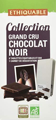 pas cher un bon Chocolat Noir Grand Cru 6 pièces Label Box 600g