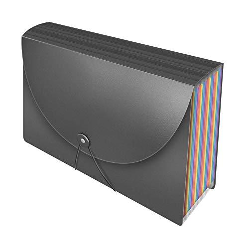 Carpeta para documentos A4 con 25 compartimentos, color arcoíris, carpeta clasificadora para archivos, optimizada para llevar, no adecuada para escritorio, carpeta A4 para oficina, escuela, hogar