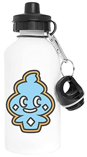 Tiernos Vanillite Impresión Aluminio Blanco Botella de Agua Con Tapón de Rosca Aluminium White Water Bottle With Screw Cap
