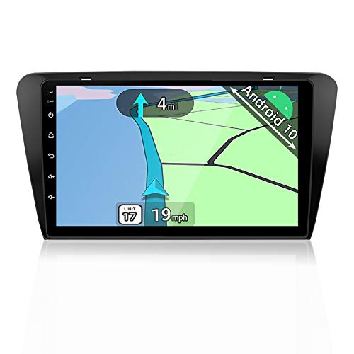 YUNTX Android 10 Autoradio Compatible avec Skoda Octavia (2014-2018) - GPS 2 Din - Caméra arrière & Canbus Gratuits - 2G+32G - Soutien Dab+   Commande au Volant  4G   WiFi Bluetooth Mirrorlink