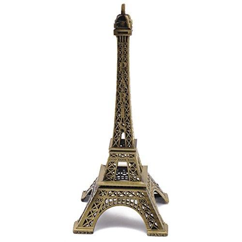 Pinzhi Alta 25cm Bronce Estatua de Figura de la Torre Eiffel Modelo Decoracion en la Mesa