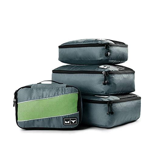 N\C Juego de 4 bolsas de viaje, bolsa de almacenamiento de viaje, bolsa de equipaje impermeable y resistente a la humedad