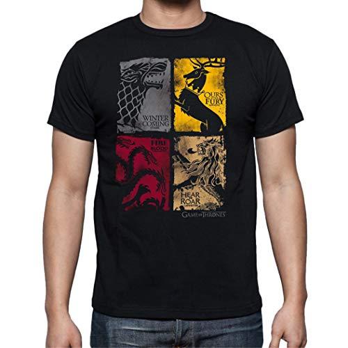 The Fan Tee Camiseta de Hombre Juego de Tronos Tyrion Snow Dragon Daenerys Stark 064 XL