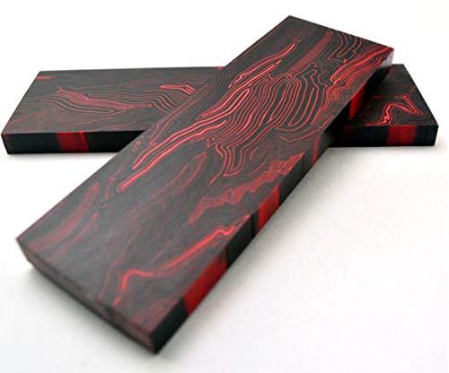 Aibote 2 stück G10 Glasfaser Damaskus Muster Messer Griff Material Waagen Platten Messer Benutzerdefinierte DIY Werkzeug für Messerherstellung Rohlinge Klingen