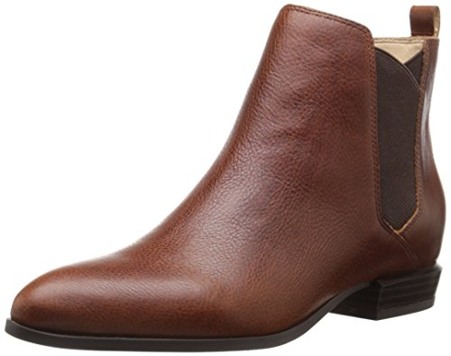 Nine West Women's Doloris Leather Boot, Cognac Leather, 7.5 M US