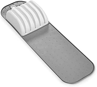 madesmart Small In-Drawer Knife Mat - White | CLASSIC COLLECTION | Holds up to 5 Knives | Safe | Open Design to fit Any Size Knife | Soft-grip Slots and Non-slip Mat | BPA Free