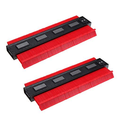 Repair Tools Herramientas de Bricolaje, 2pc 10 Pulgadas magnética métrica magnética e Imperial Contorno Perfil Forma Herramienta de carpintería