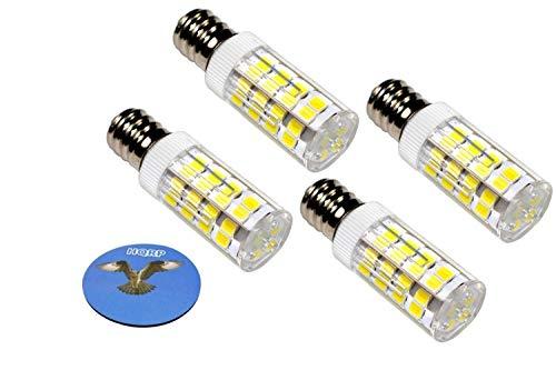 HQRP 4 piezas E12 220V Bombilla LED Blanco Frio compatible con LG 6913EL3001A Bombilla de la Secadora Reemplazo más HQRP Portavasos
