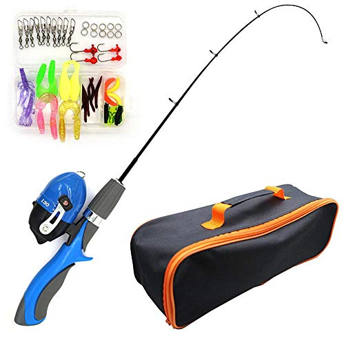 Kids Telescopic Fishing Pole Set with Reel Bait Box,Storage Bag,Portable Lightweight Fishing Rod Kit for Beginners Children Boys Girls