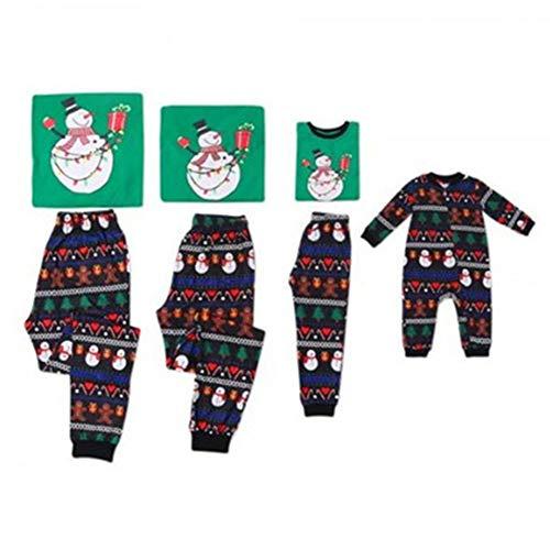 Pijamas Dos Piezas Familiares de Navidad, Conjuntos Navideños de Algodón para Mujeres Hombres Niño Bebé, Ropa para Dormir Verano Otoño Invierno Sudadera Chándal Suéter de Navidad